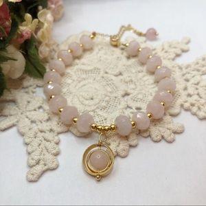 14K Rose Quartz Bracelet